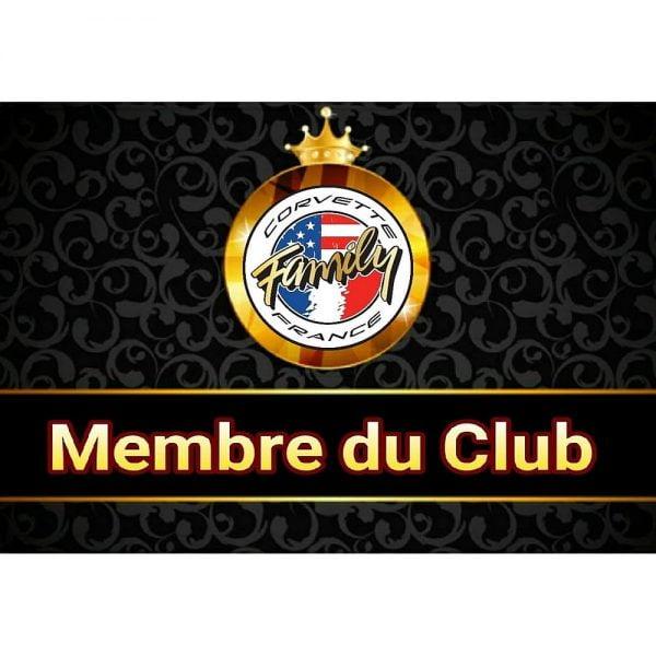 Carte membres Club Corvette Family France