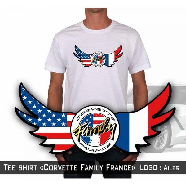 Tshirt ailes Club Corvette Family France