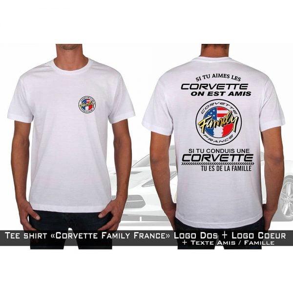 tshirt texte Club Corvette Family France