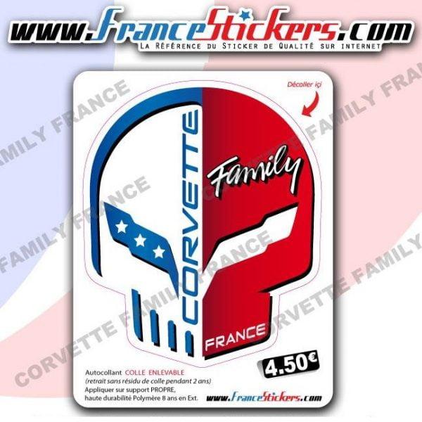 Stickers Jake Club Corvette Family France